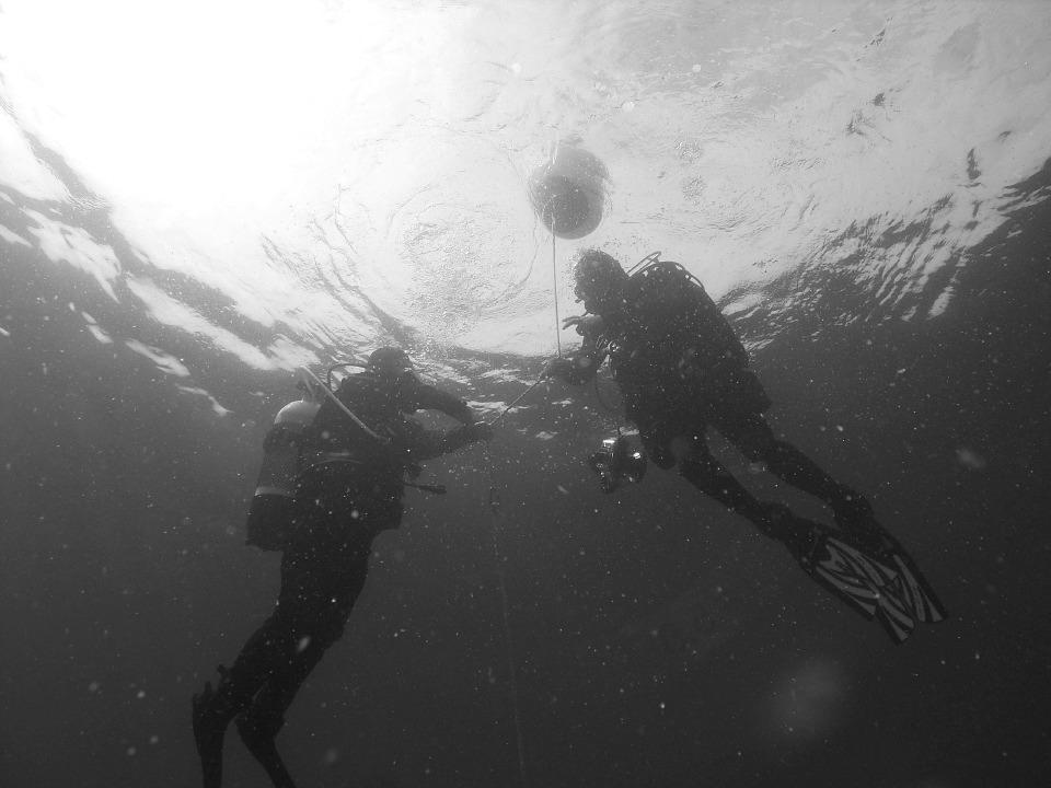 Surfacing divers