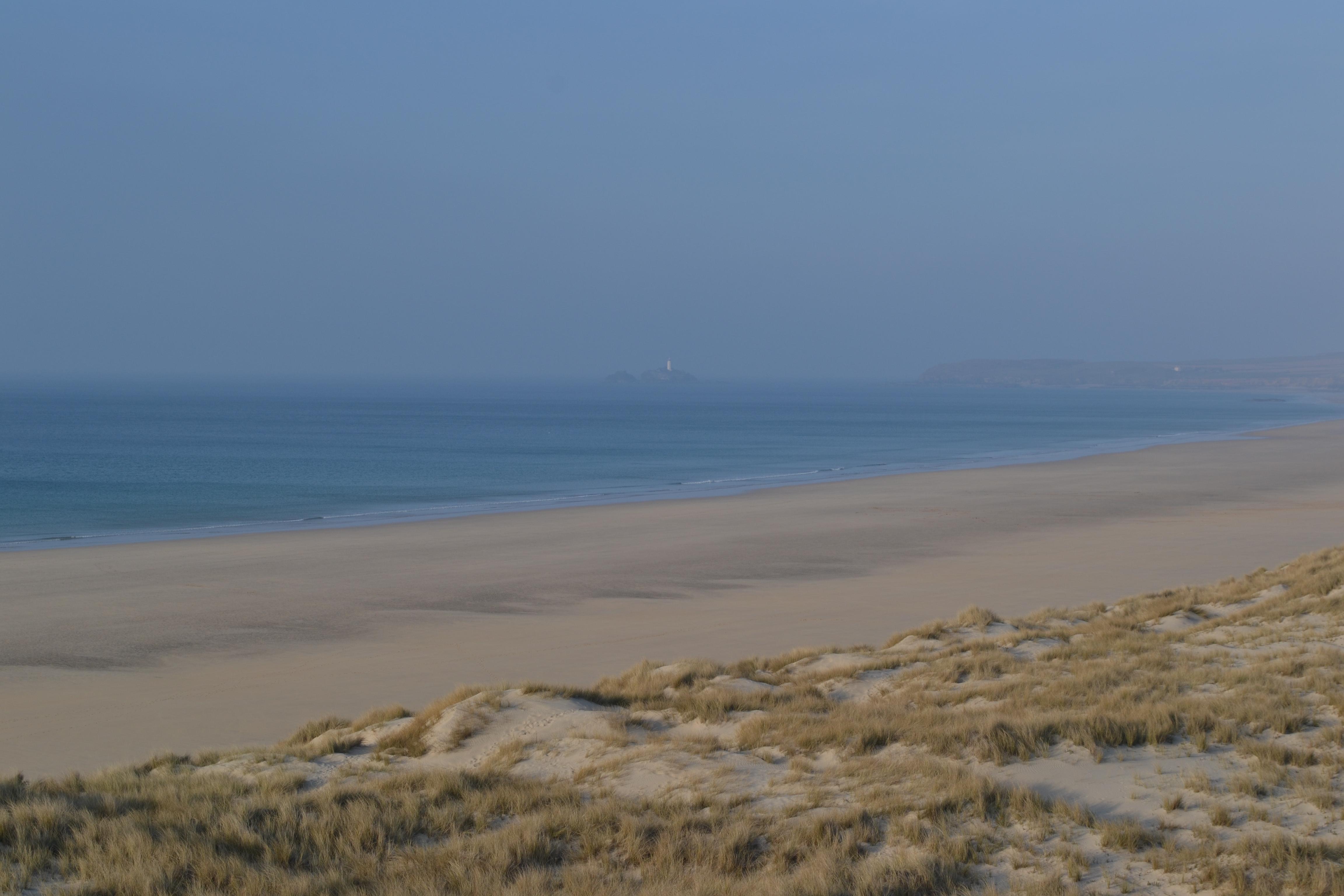 Godrevy beach and island